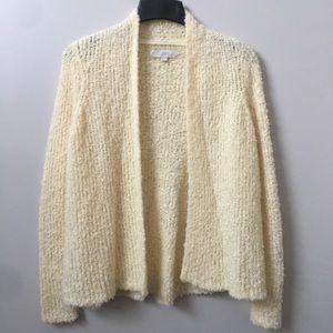 Loft Fuzzy Knit Open Front Cardigan